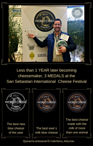 El Cabriteru tres premios en los World Cheese Awards 2016