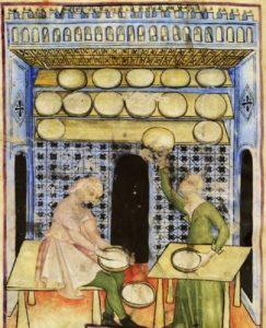 Tacuinum Sanitatis historia del queso