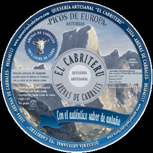 etiqueta queso azul puro leche cruda de cabra El Cabriteru