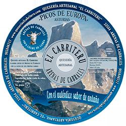 Etiqueta queso azul puro leche de cabra El Cabriteru