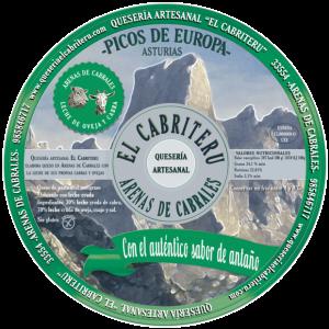 etiqueta queso azul mezcla leche cruda de oveja y cabra