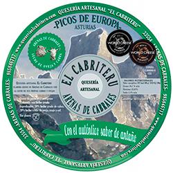 Etiqueta queso azul de mezcla de El Cabriteru