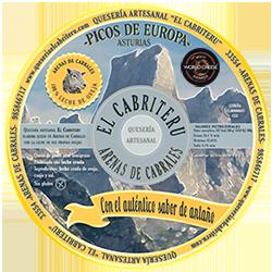 Etiqueta queso azul pura leche de oveja El Cabriteru