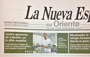 Nota de prensa La Nueva españa quesería El Cabriteru