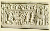 sello elamita que representa que ya usaban el queso