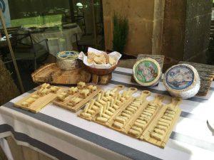 queso azul de El Cabriteru en el parador de Cangas de Onís