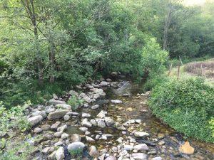 Asturias río Ribeles a su paso por la Quesería artesanal El Cabriteru