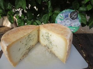 queso azul partido a la mitad El Cabriteru