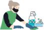 limpieza y desinfección para los visitantes de la Quesería El Cabriteru