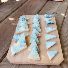 tabla de tres variedades de queso azul de El Cabriteru